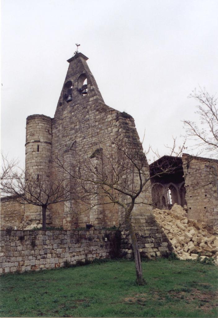 Le mur sud effondré