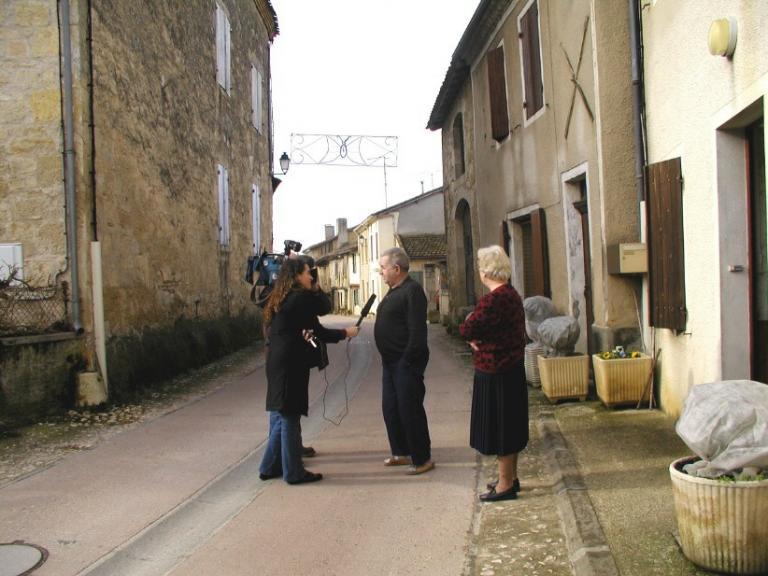 Tournage pour le 19/20 de France3 avec Anne Marie Lacarrau - 2004