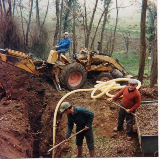 Sondage et drainage talus sud - 1985