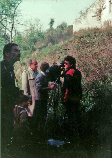 Pierre de Lagarde - Tournage du documentaire pour Chef d'oeuvre en péril 1983