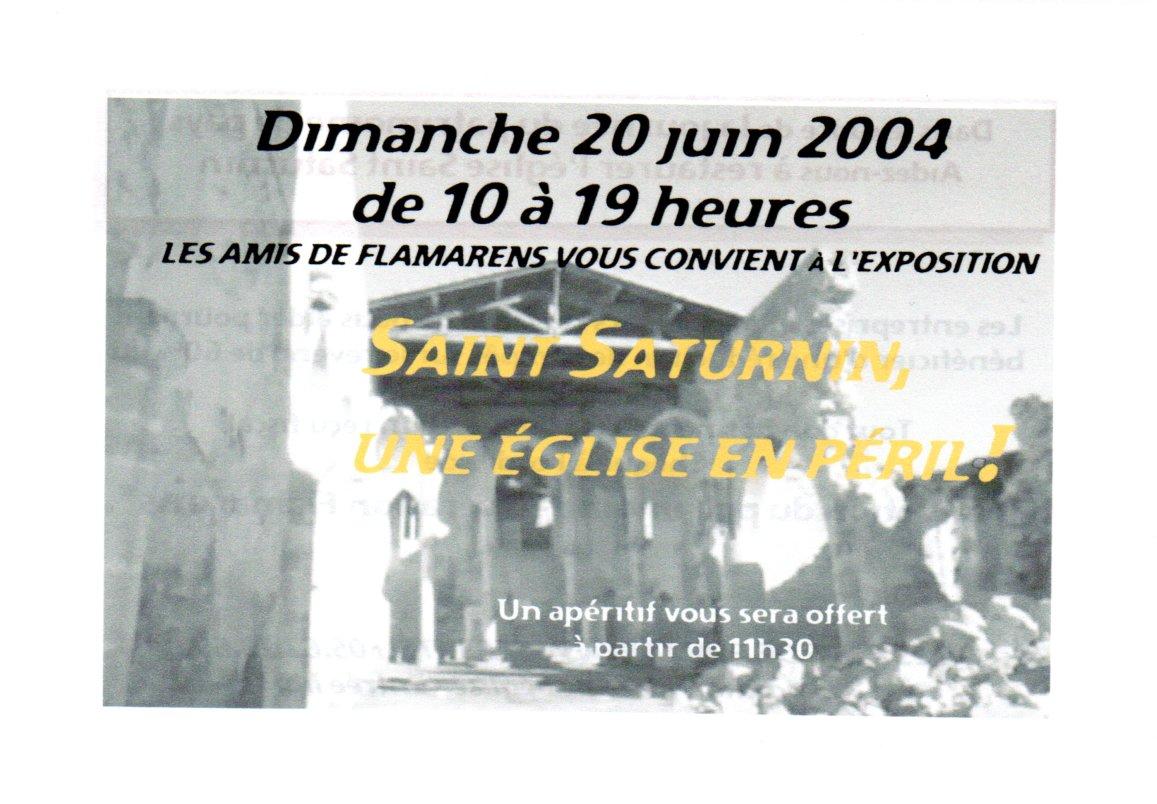 Exposition Saint Saturnin - 2004