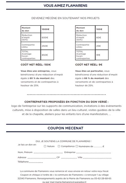 Mecenat coupon
